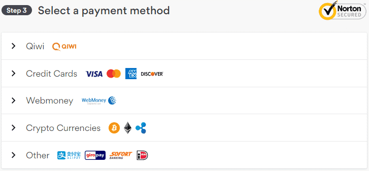 NordVPN - Payment Method