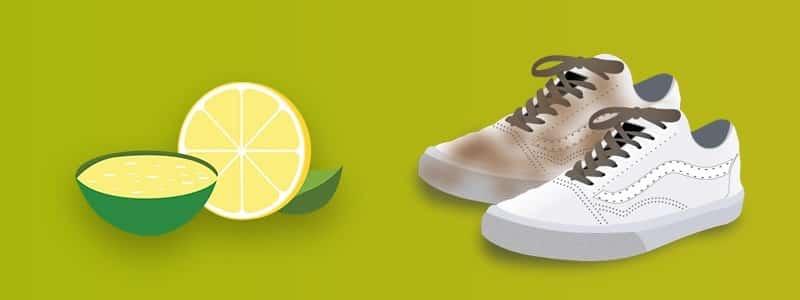 Cleaning White Vans Shoes Using Lemon Juice