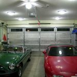 What kind of LED light fixtures are suitable for garages